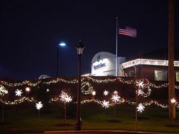 Commercial holiday sign lighting