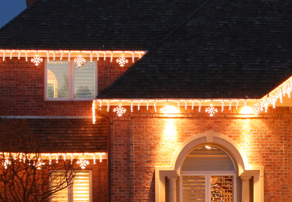 Nashville Outdoor Lighting Perspectives Landscape Residential - Brick column lit by flush mounted core drilled well light