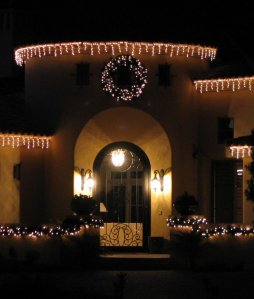 Large LED lighted Christmas wreath