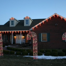 Candy Cane lights on home