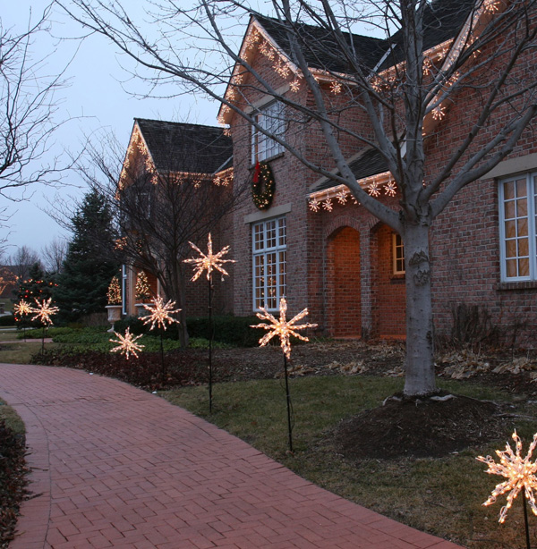 Holiday lighting packages you own and ot rent in nasville - Snowflake exterior christmas lights ...