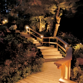 Outdoor stair lighting Nashville