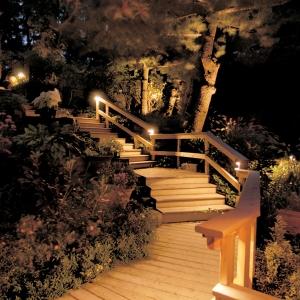 Outdoor stair lighting Nashville