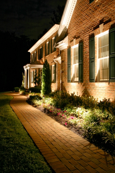 A safe, well lit house by Outdoor Lighting Perspectives of Nashville