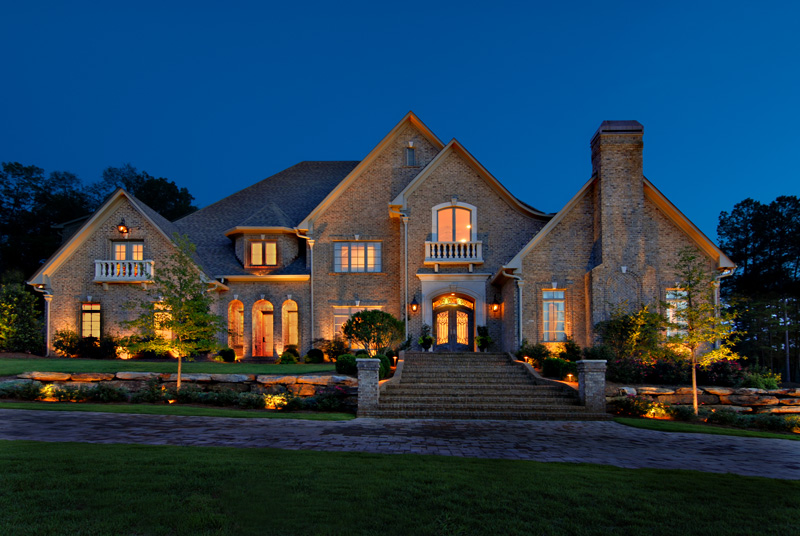 do it yourself outdoor lighting. A Professionally Lit Home By Outdoor Lighting Perspectives Do It Yourself L
