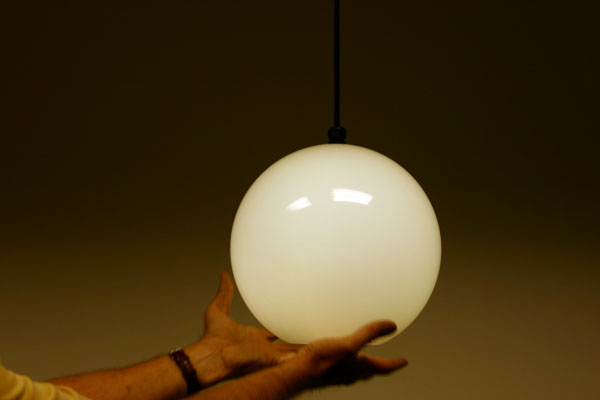outdoor pendant globe or orb light