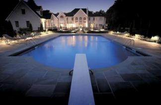 Nashville mansion pool lghting