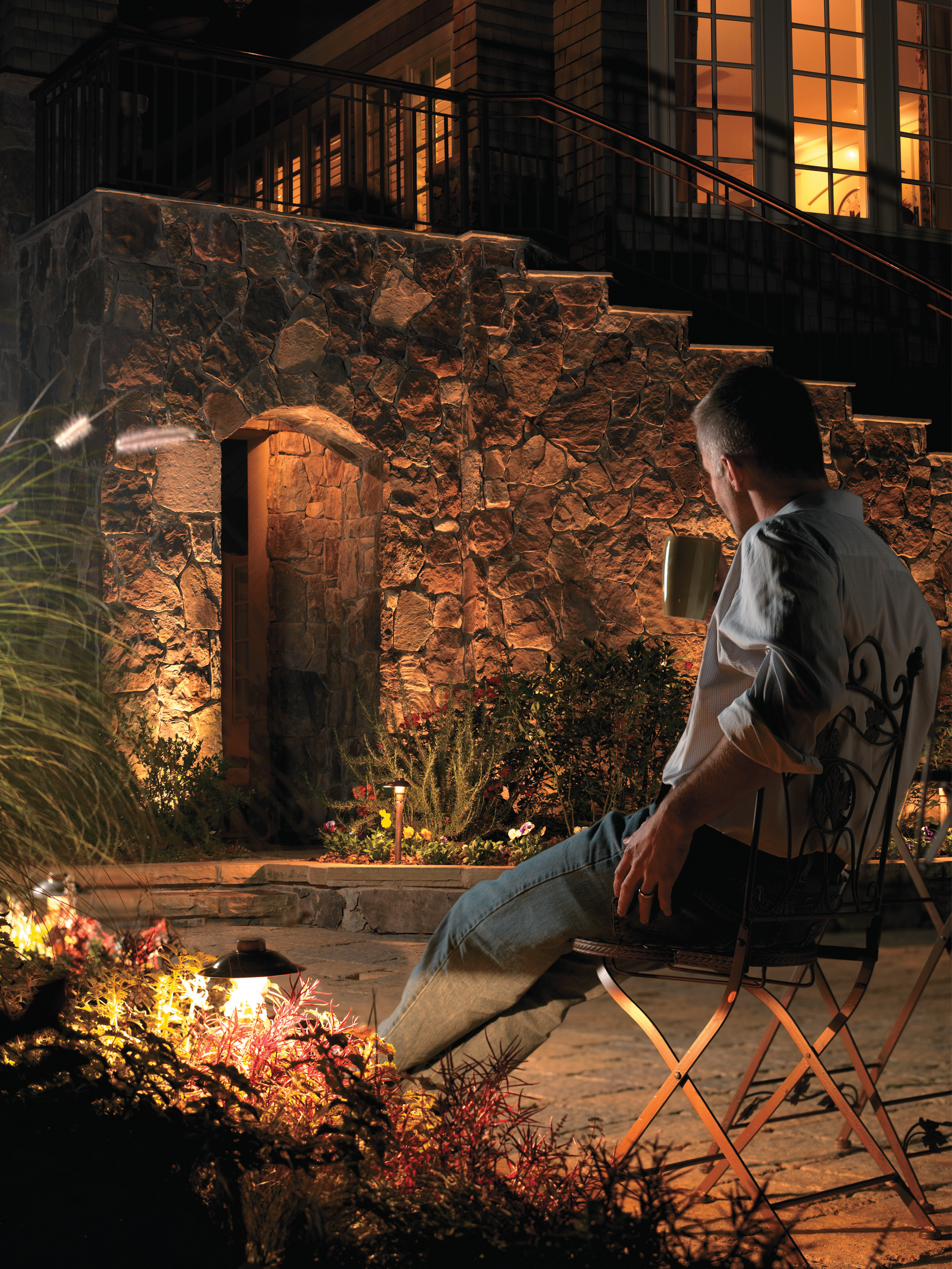 diy outside lights patio backyard ideas house outdoor your with pin lighting design beautify