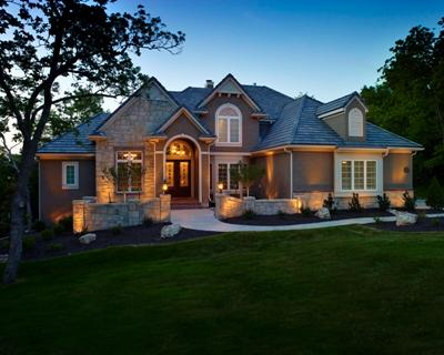 Nashville TN home after outdoor lighting