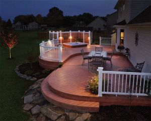 Outdoor Lighting Perspectives of Nashville deck lighting