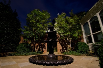 Focal lighting on fountain in Belle Meade by Outdoor Lighting Perspectives of Nashville