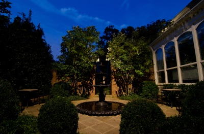 Another look at our recent installation of Nashville focal point lighting in Belle Meade.