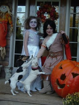 Cute trick or treaters
