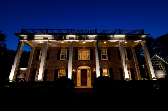LED architectural and facade lighting in Belle Meade by Outdoor Lighting Perspectives of Nashville