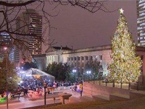 Christmas tree lighting in the Capital Nashville TN