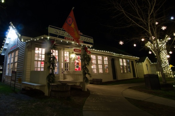Christmas lighting at the Loveless Cafe by Outdoor Lighting Perspectives of Nashville