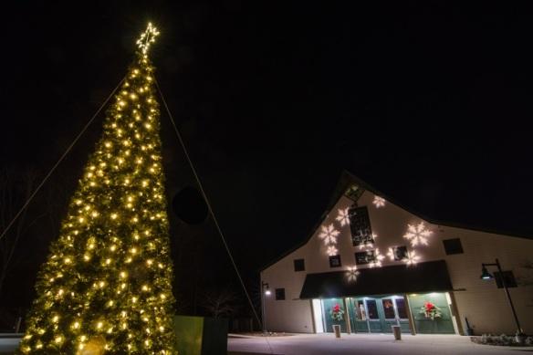 Loveless Barn holiday lights by Outdoor Lighting Perspectives of Nashville