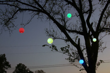 Permanent festival lighting, such as orb lighting, also comes in a host of colors.