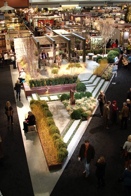Overhead view of entry show garden Nashville Antiques and Garden show