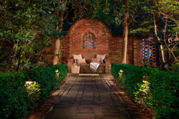 Backyards can easily become your personal sanctuary with custom designed outdoor lighting.
