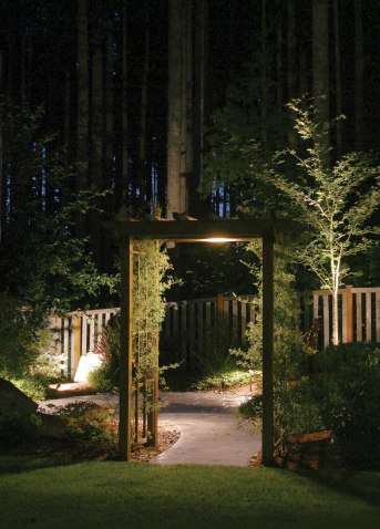 Outdoor lighting plays a major role in the success of landscape architecture.