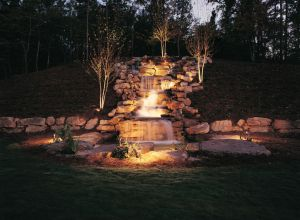 Outdoor Lighting Perspectives elegant waterfall lighting