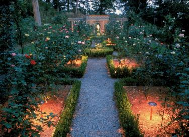 Outdoor Lighting perspectives rose garden lighting
