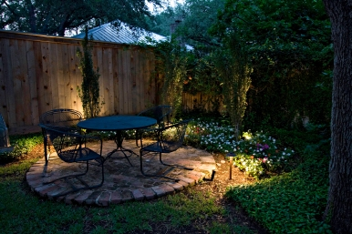 Nashville backyard lighting