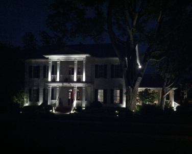 Timeless outdoor lighting by Outdoor Lighting Perspectives of Nashville.