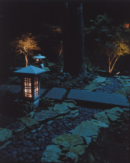 Zen inspired landscape lighting