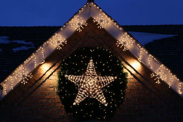 3d lighted LED Star Wreath