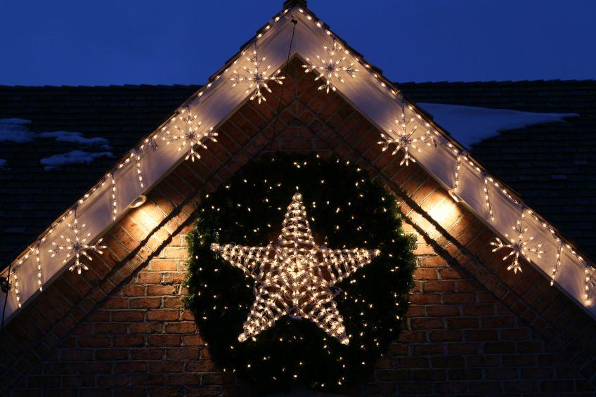 3d lighted LED Star Wreath