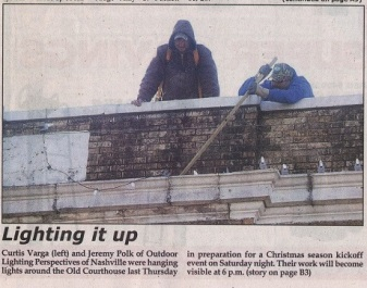 "Our ""in progress"" installation made news in the Hickman County Times!"