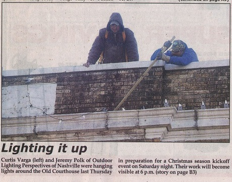 """Our """"in progress"""" installation made news in the Hickman County Times!"""