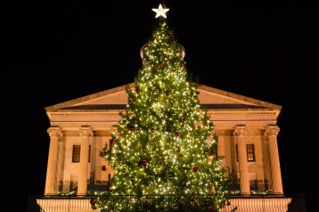 Lighting the capital tree in downtown Nashville TN 2013