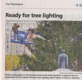 OLP Tennessean 12114 State Capital Christmas Tree