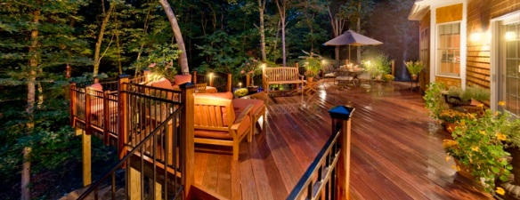 deck lighting by Outdoor Lighting Perspectives