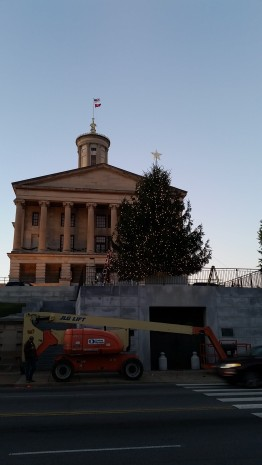 In progress adorning the 2015 capital christmas tree in Nashville, TN.