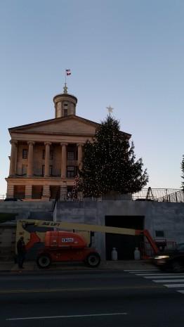 In progress adorning the 2015 capital christmas tree in Nashville, TN.