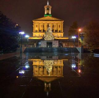 Beautiful photo taken by Greg Pirtle. Christmas at the Capitol 2015.