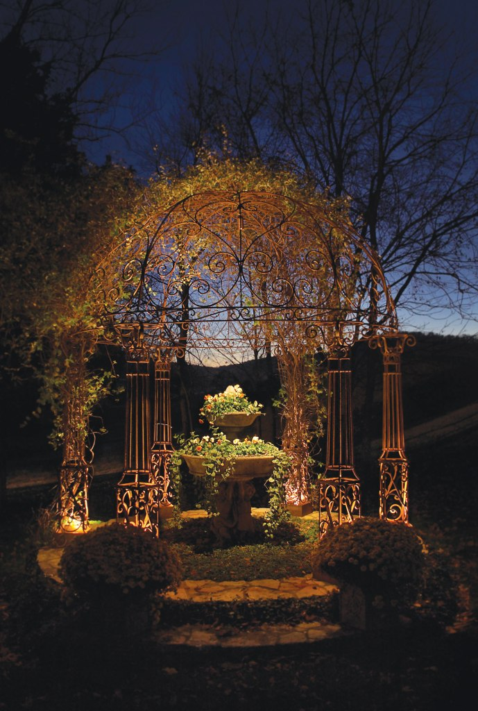 backyard gazebo lighting