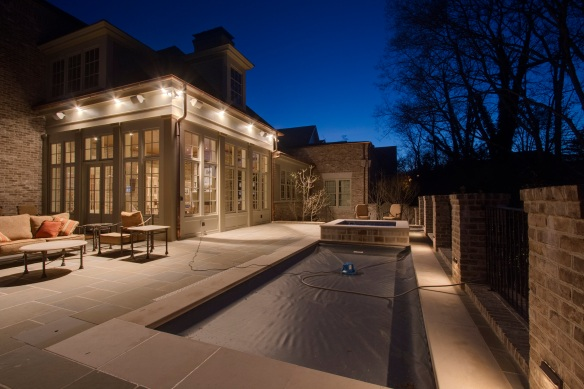 Patio lighting design in Franklin, TN, by Outdoor Lighting Perspectives of Nashville.