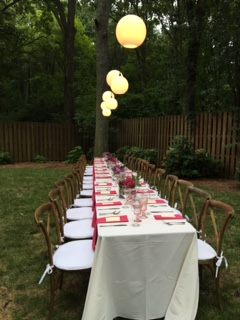 Belle Meade TN Birthday Party Outdoor Temporary Lighting by Outdoor Lighting Perspectives of Nashville