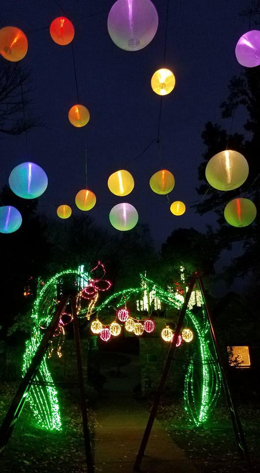 Amazing holiday lighting at Cheekwood by OLP Nashville