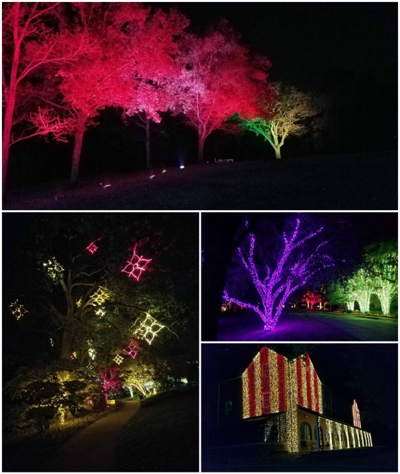 Nashville holiday outdoor lighting at Cheekwood Gardens