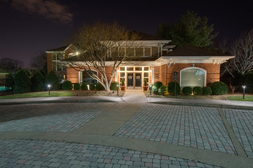 Outdoor Lighting at the Clubhouse at the Grove Whitworth in Green Hills TN