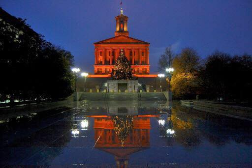TN State Capitol Christmas Tree 2017