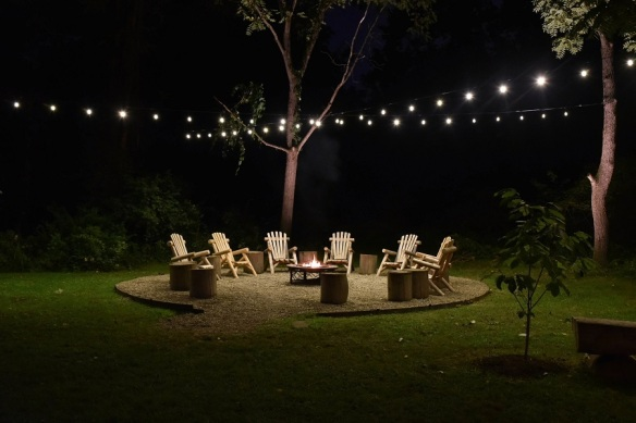 Nashville Festival Lighting Over Backyard Firepit