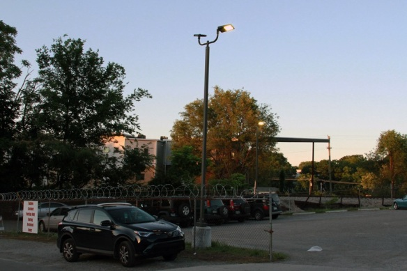 Nashville Commercial LED parking lot lighting at Bastion