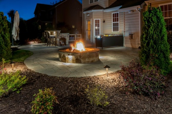 Nashville fire pit lighting